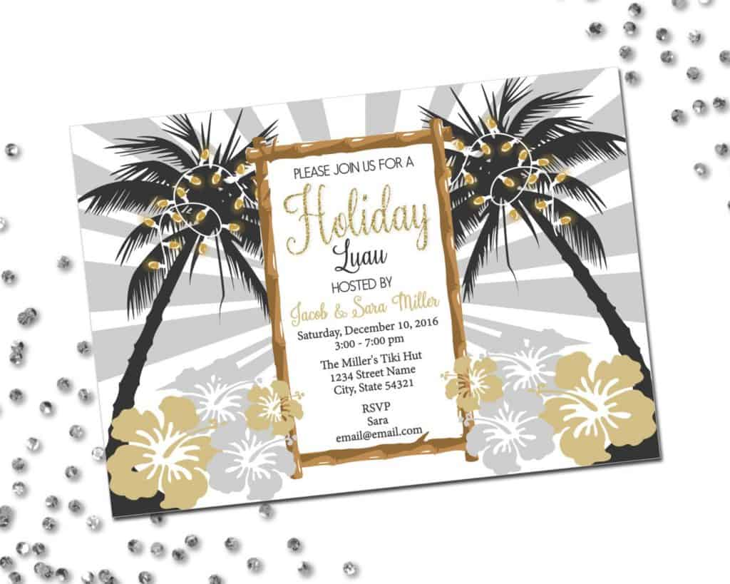Holiday Luau Invitation (BeccaLeePaperie)