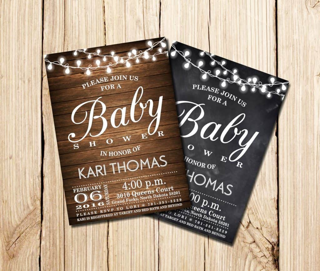 Rustic Baby Shower Invitations (my my party)