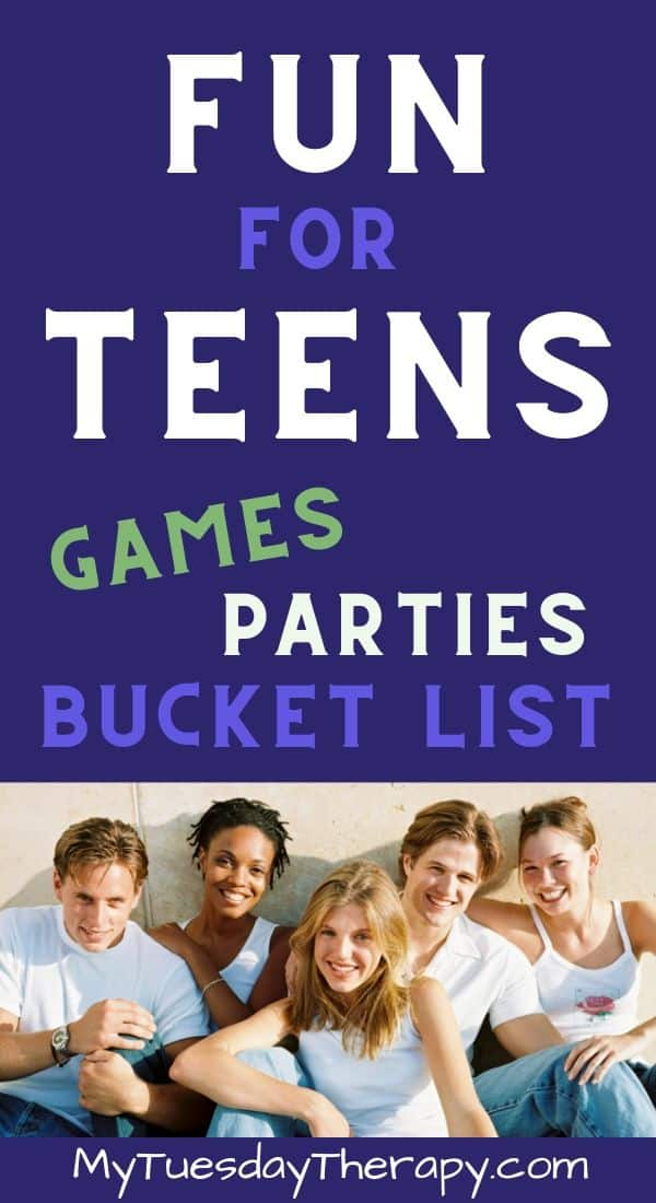 Fun Things for Teens to Do. Birthday party ideas for teens, summer fun for teens, game ideas for teens. All kinds of cool stuff for teens to do with friends and family.