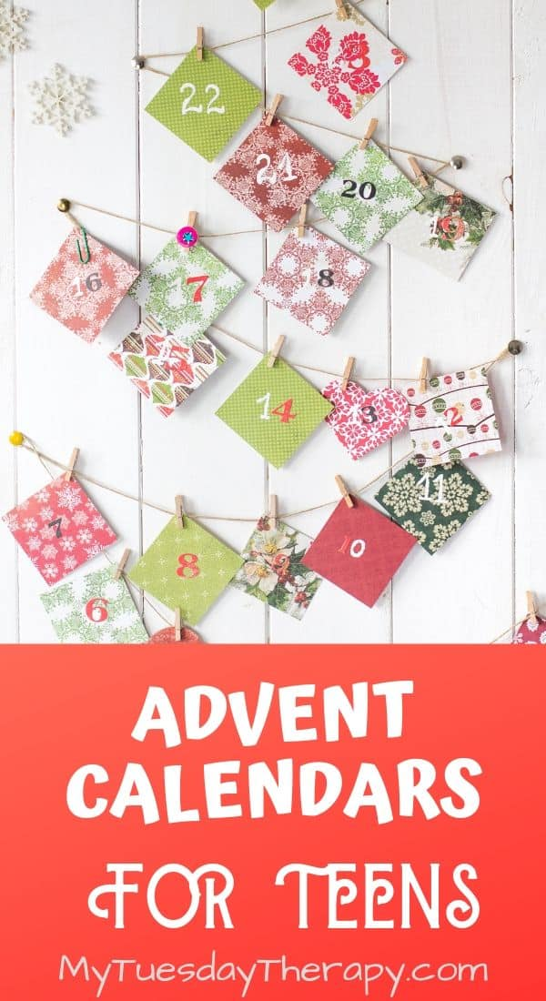 Advent Calendar Ideas for Teens