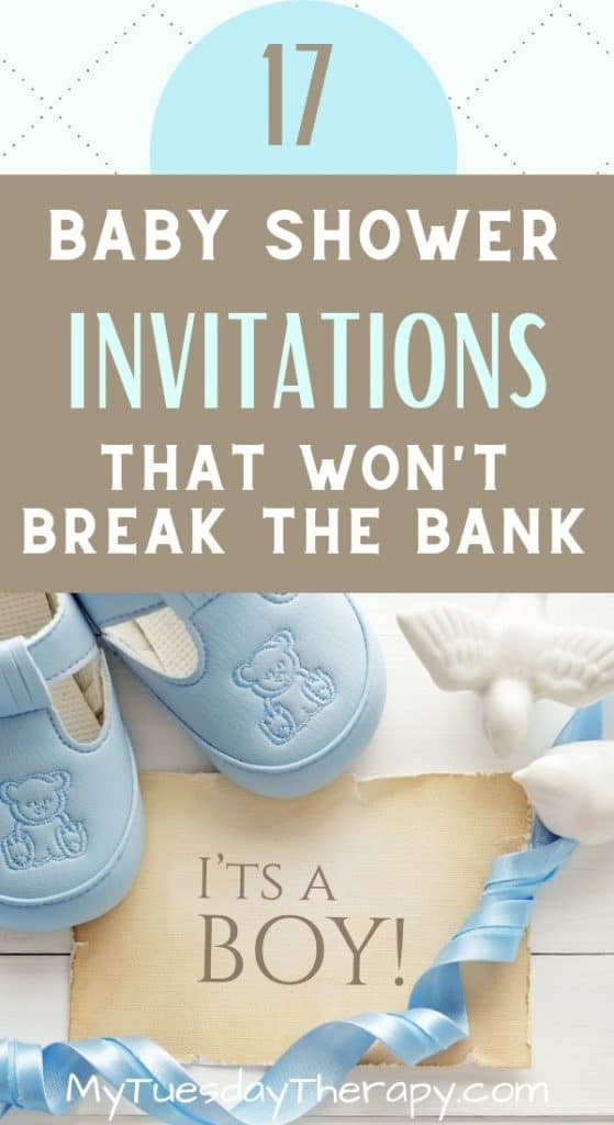 Cheap Baby Shower Invitations for Boys