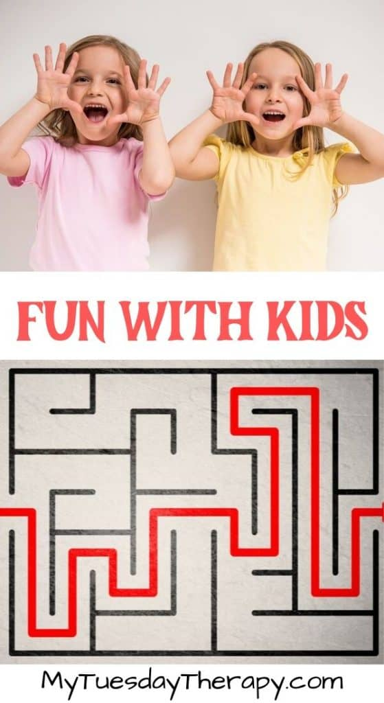 Things to Do With Kids Indoors. Maze for Kids.