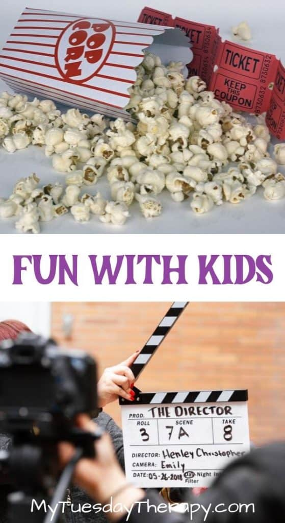 Fun Cheap Things To do With Kids. A movie night, make a movie etc.