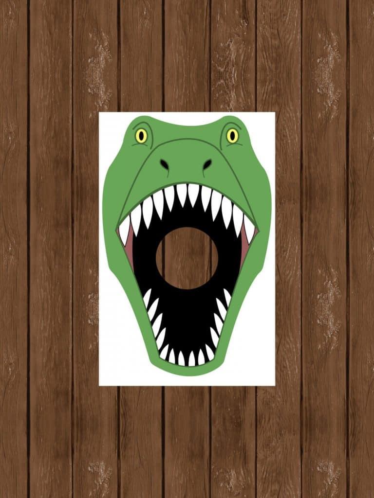 Feed the Dinosaur Game for Dinosaur Birthday Party (designsbyjessiev)