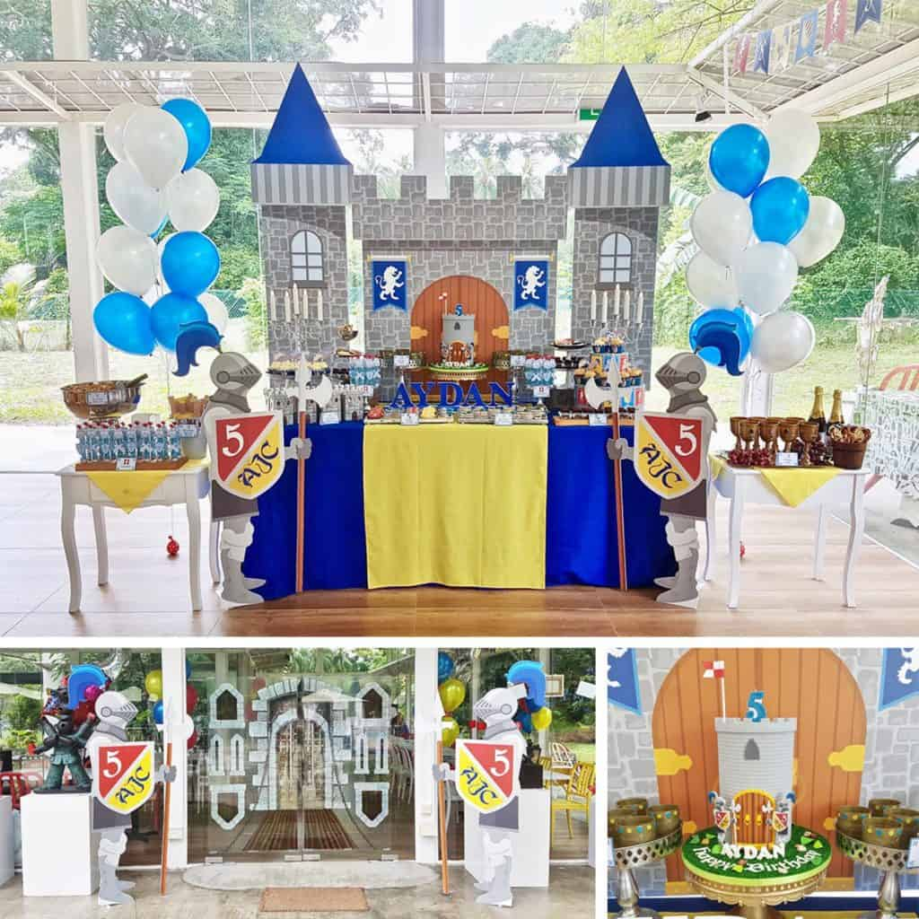 Medieval Knight Party Decorations. A fun theme for combined party for boys and girls. (maydetails)