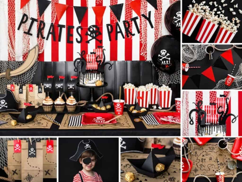 Pirate Party Decorations. A party in a box for boys. (malilavstudio)