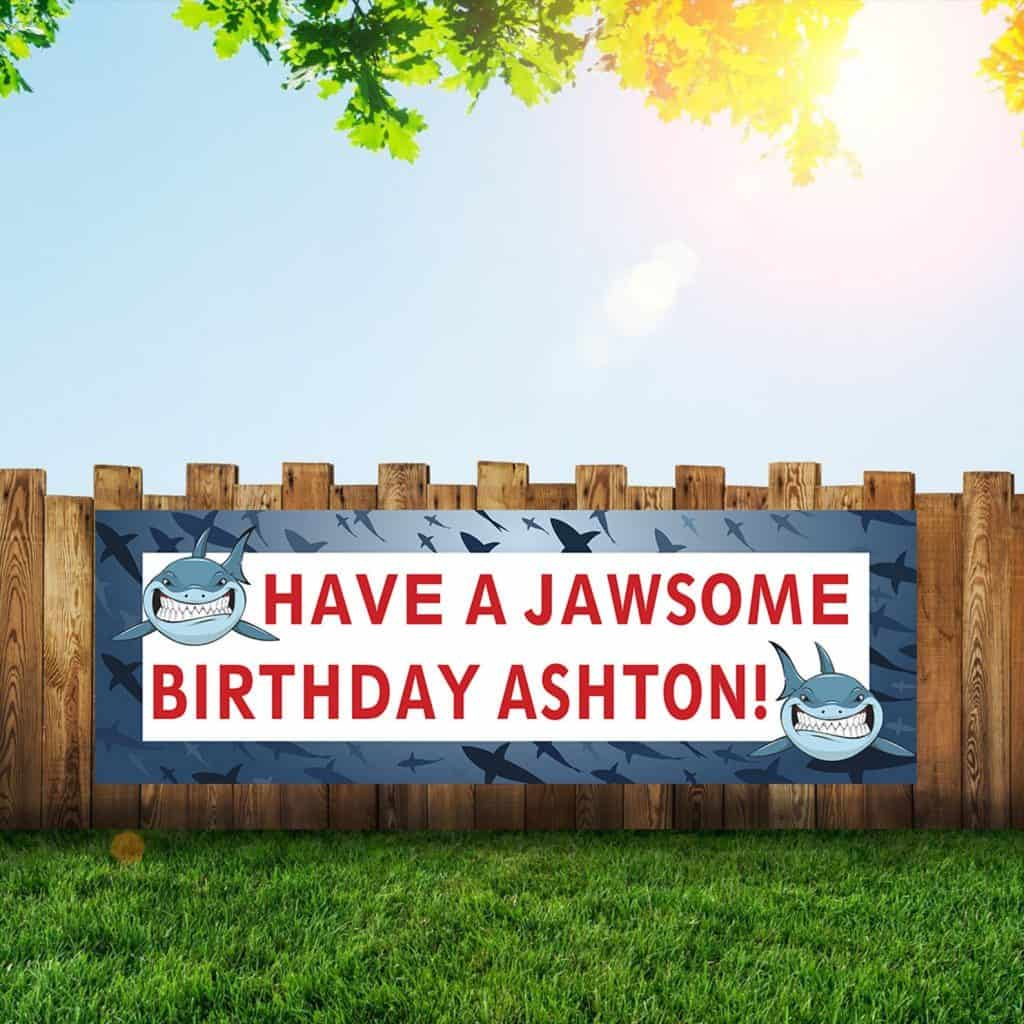 Have a Jawsome Birthday Banner for Sharks Party
