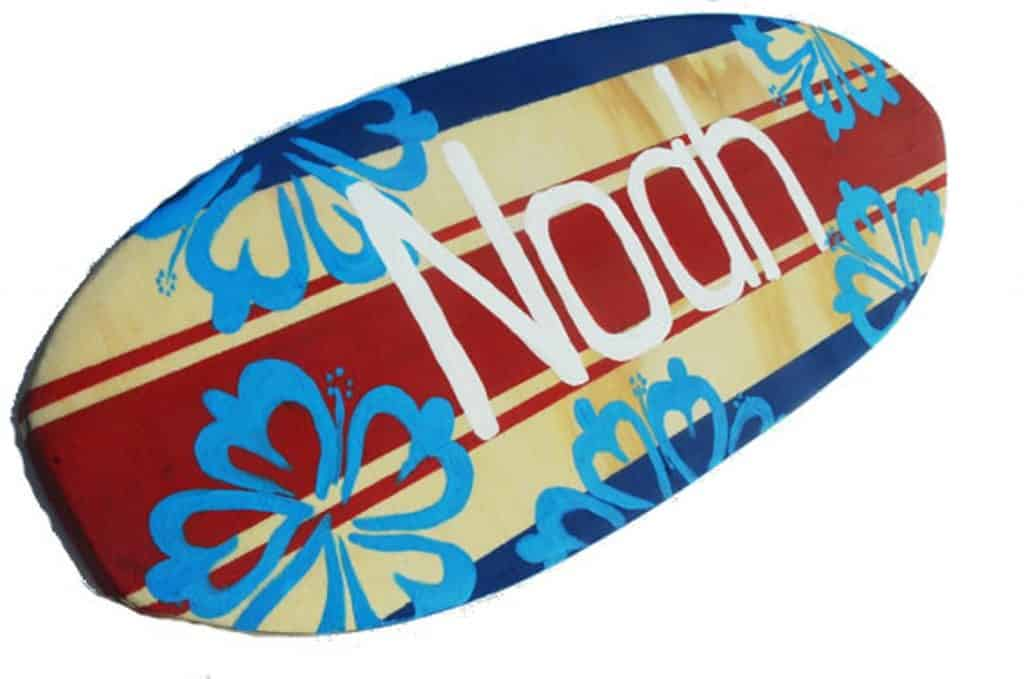 Surfboard for Surf's Up Party for Boys. Fun birthday party theme for boys. (seagypsys)
