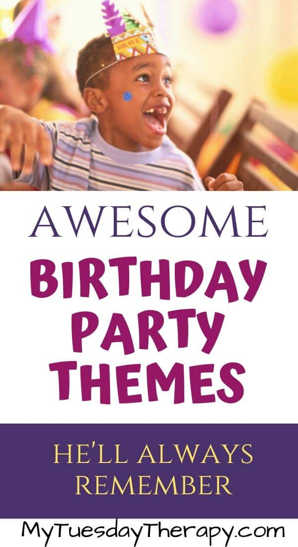 Birthday Party Themes for Boys. Fun party ideas for boys. Host a party at home. Cool party themes and ideas for each to get you started. These party themes work for boys from 1 to 11 years old and maybe even beyond.