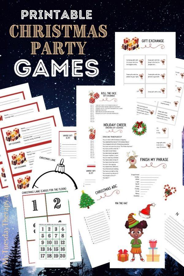 Printable Christmas Games and Gift Exchange Games