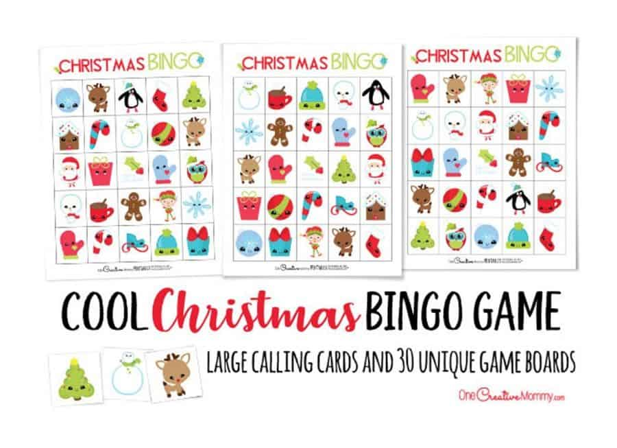 Christmas Bingo, Christmas Party Game. (onecreativemommyshop)