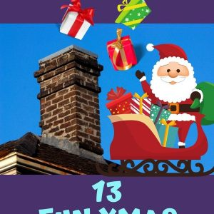 Christmas Party Games. Toss the gifts in the chimney. A fun game for large group.