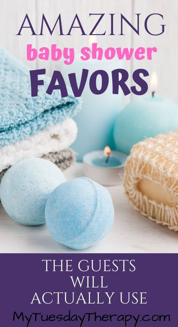 Baby Shower Favor Ideas for Boys and Girls. Easy, cheap, unique and practical baby shower favors the guests will love.