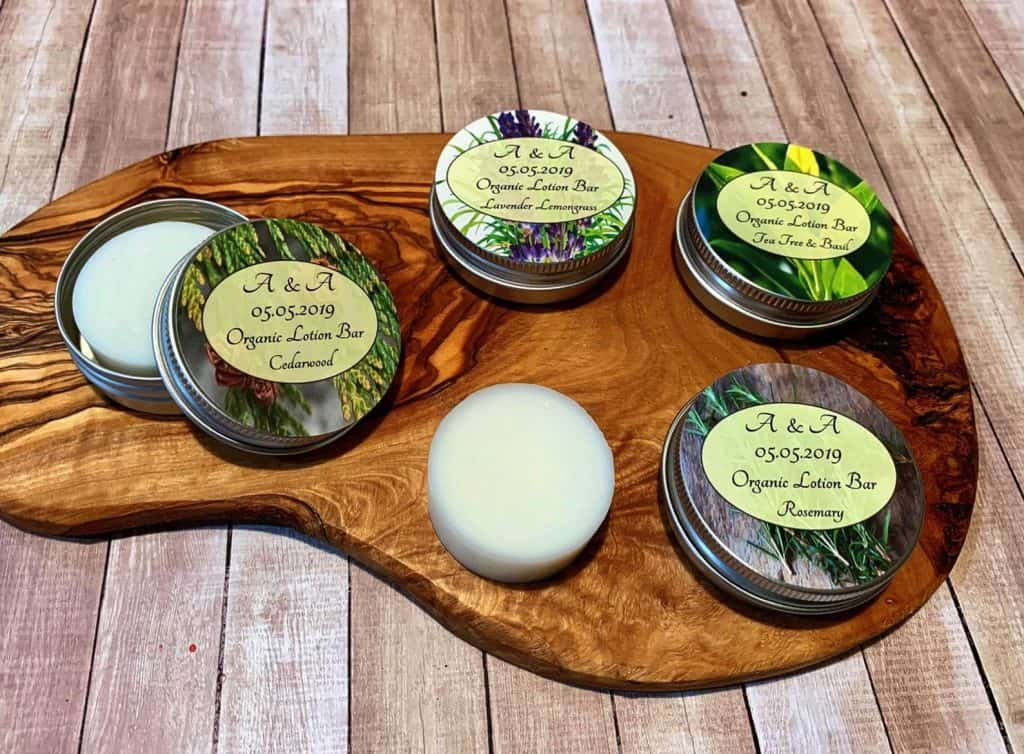 Organic Lotion Bars as Baby Shower Favor