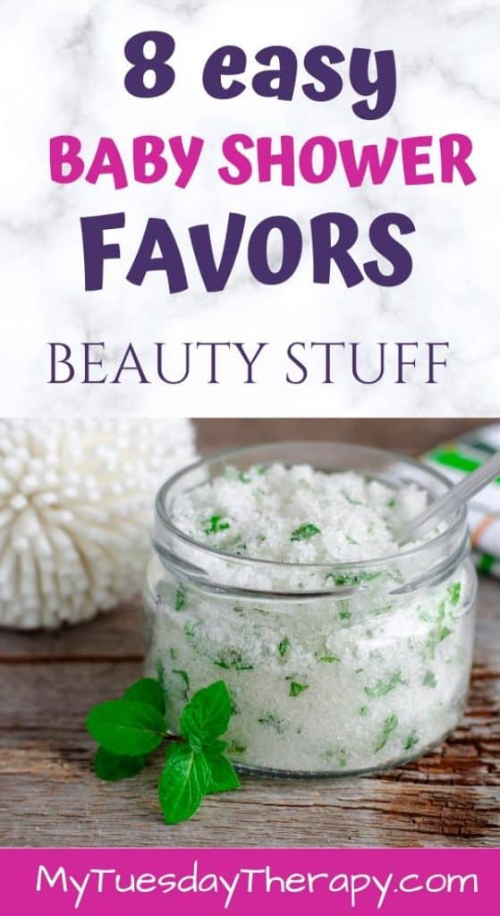 Easy Baby Shower Favors: Beauty Products. Sugar Scrub.