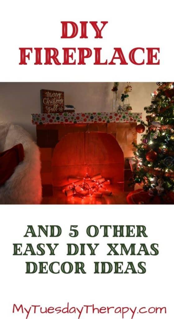 DIY Cardboard Fireplace for Kids.