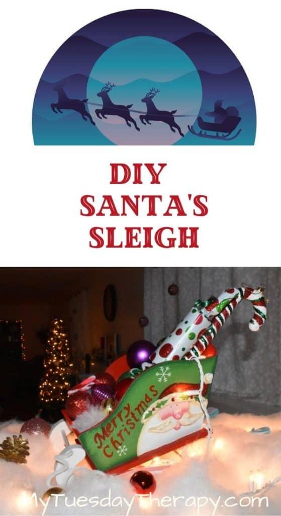 Santa's Sleigh. Easy Christmas Decoration Idea. A fun Christmas craft.
