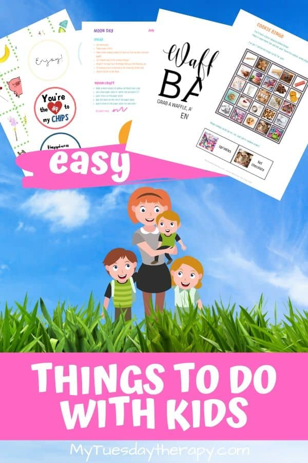 Fun things to do with kids. Make great memories with these ideas. Celebrate national days! Host a waffle bar, play cookie bingo and book title charades. Easy family fun that everyone enjoys. Great boredom buster ideas. Cool activity ideas for kids. Food, crafts, games, activities, gift ideas. National day ideas with printables. ad