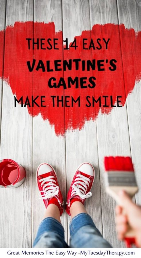 These easy Valentine's Games make your kids smile.