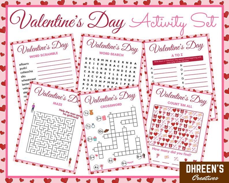 Valentine's Day Activity Set from Dhreen's Creatives
