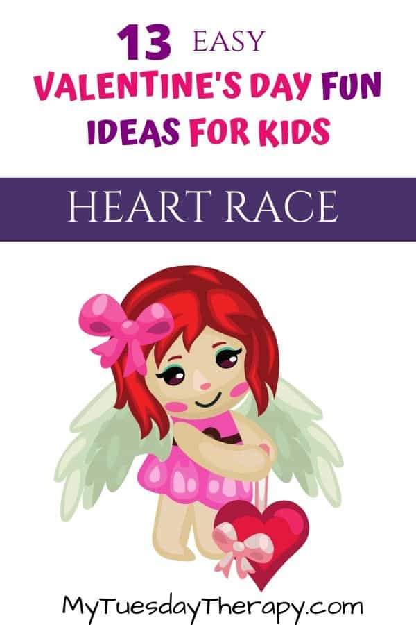 Heart Race Valentine's Game For Kids
