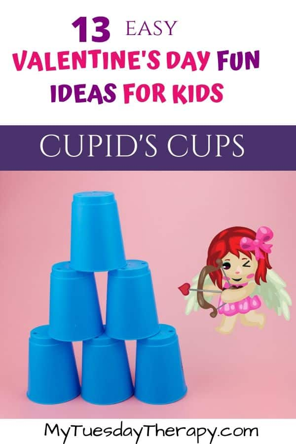 Cupid's Cups Valentine's Game.