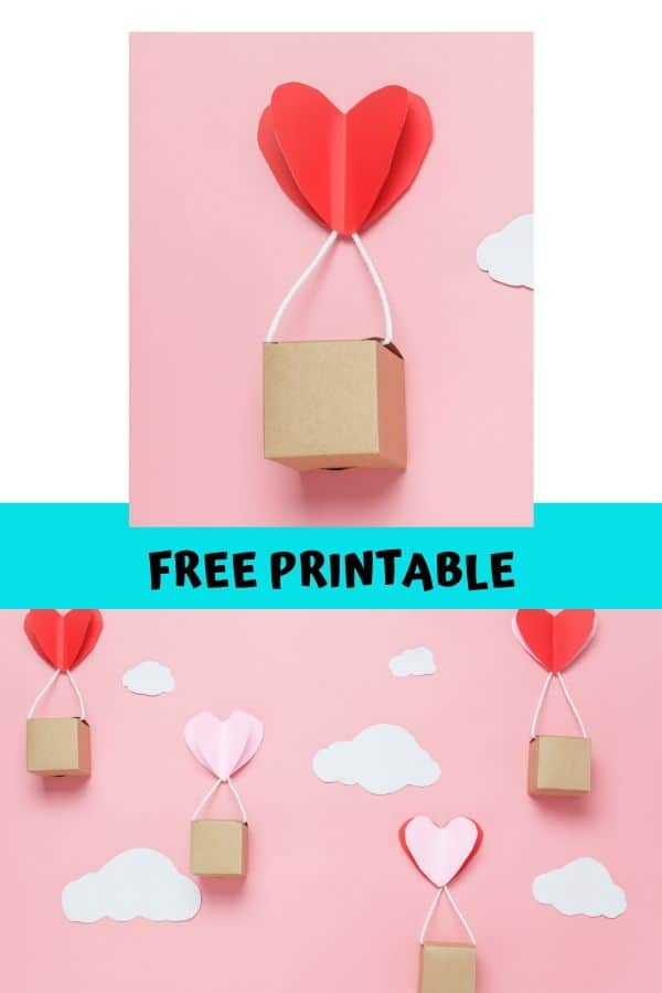 Heart Air Balloons. A fun Valentine's decoration and craft for kids.