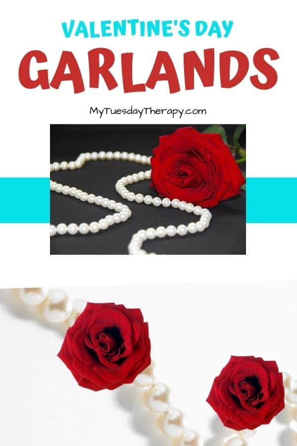 Roses and Pearls Valentine's Garland DIY