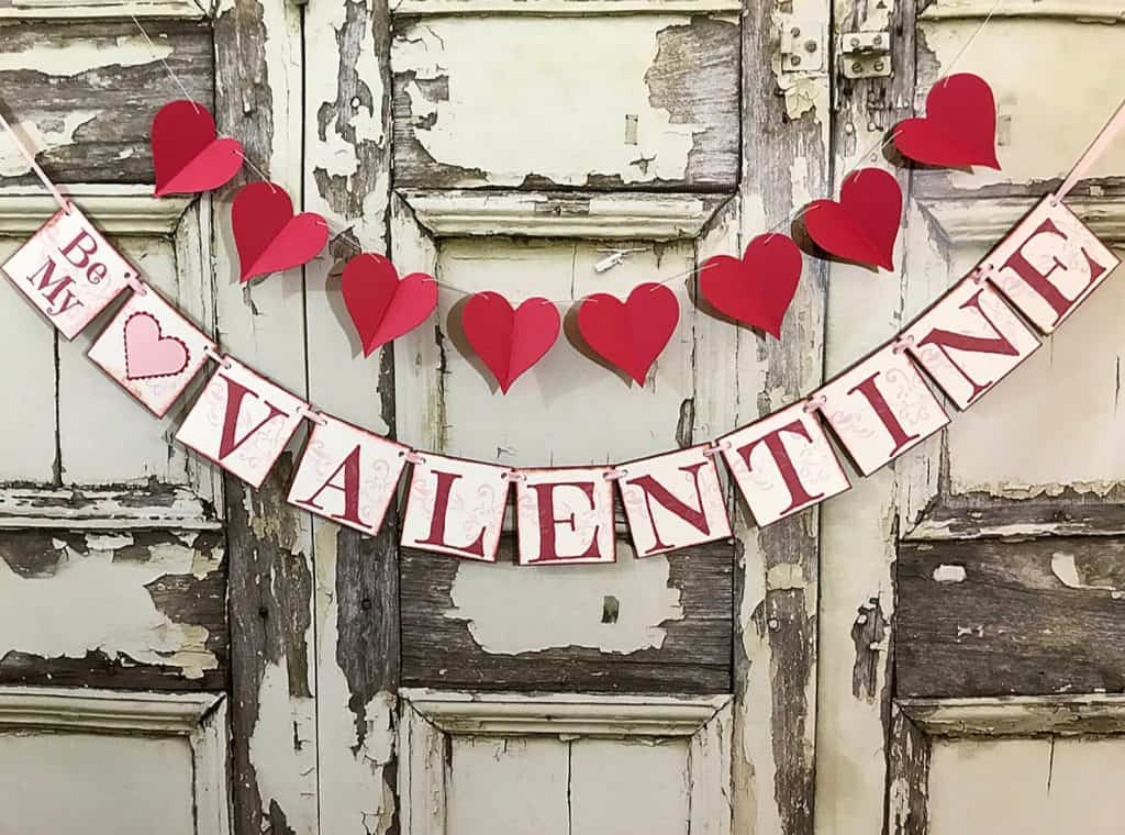 Rustic Valentine's Banner and a Beautiful Herat Banner as Valentine's Decoration.