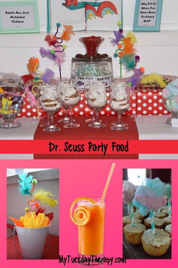 Dr. Seuss Party Food Ideas. Dessert table idea.