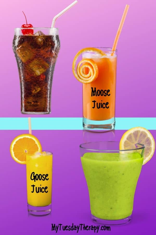 Dr. Seuss party drinks. Serve fun Dr. Seuss themed beverages like moose juice and goose juice.