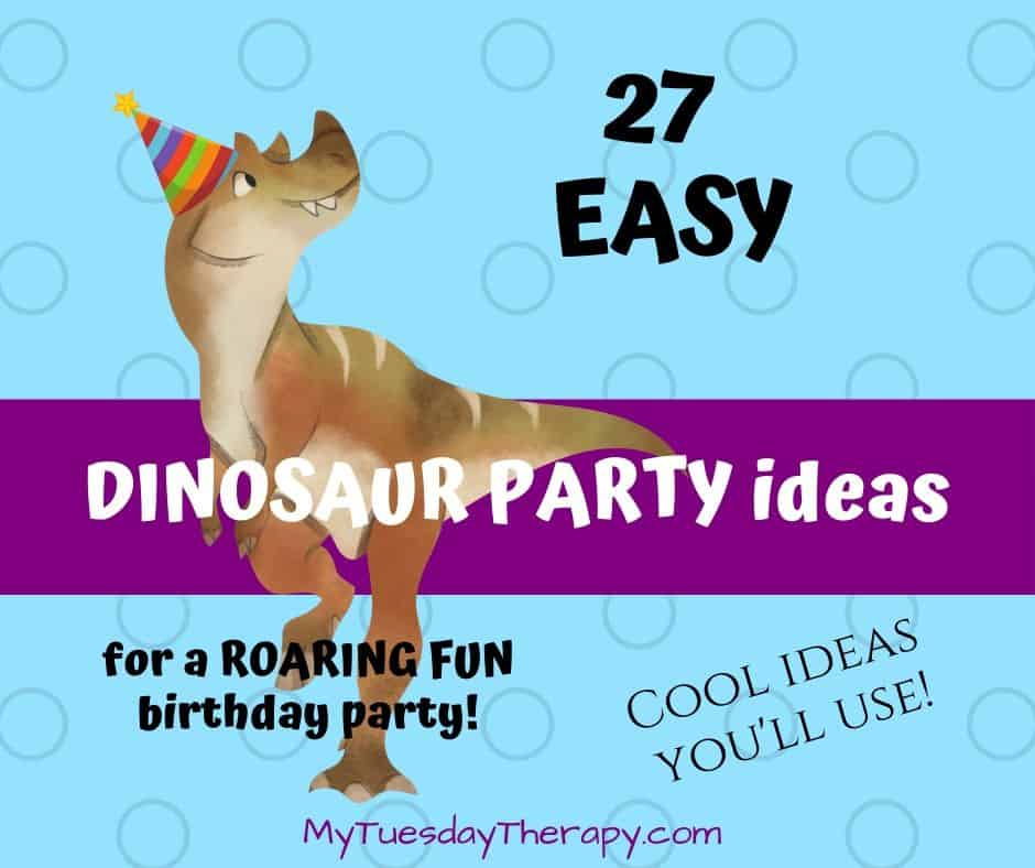 Easy dinosaur party ideas for a roaring fun birthday party. Cool ideas you'll use!