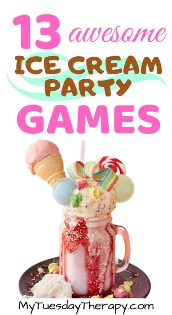 Fun ice cream party games and activities. Your ice cream social will be a hit!