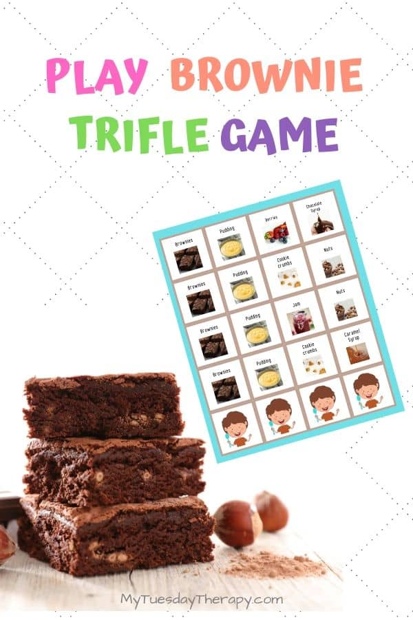 Celebrate brownie day by playing brownie trifle game! National Day Ideas.