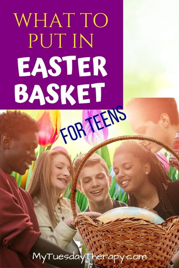 What to put in Easter basket. Easter basket fillers for teens.