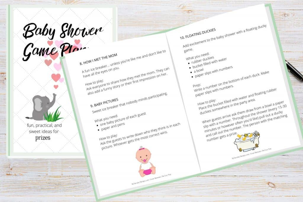 Baby Shower Game Ideas, hilarious, ice breakers, crafts and activities, printable games. A baby shower game toolkit!