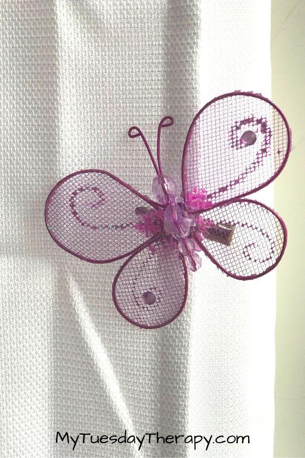Butterfly Clip On Spring Decor Ideas. Clip them on curtains.