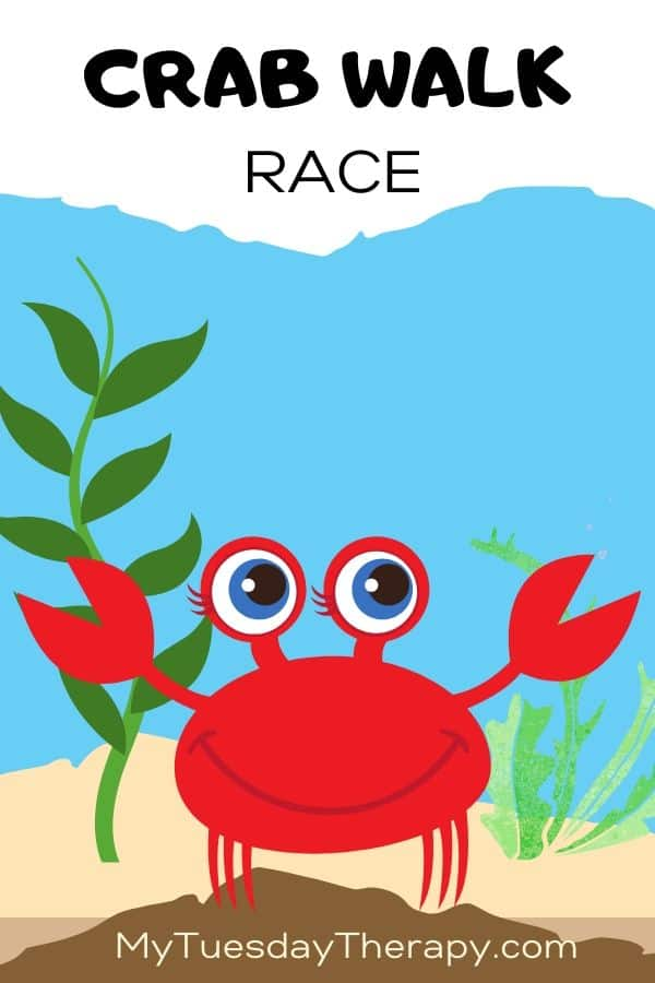 Crab walk race. A fun game for under the sea party.
