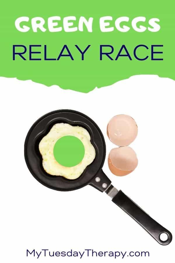 Green Eggs Dr Seuss Themed Relay Race for Kids