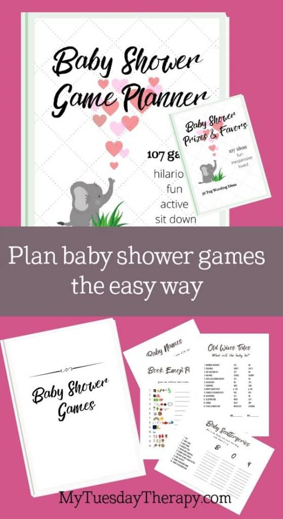 19 baby shower game printables included in the baby shower collection of 107 games and activity ideas.