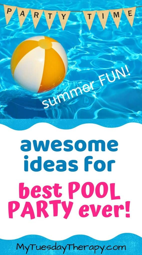 Awesome ideas for best pool party ever! Easy pool party decoration ideas.