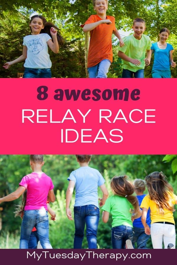8 Awesome Relay Race Ideas for Kids. Backyard games, indoor games.