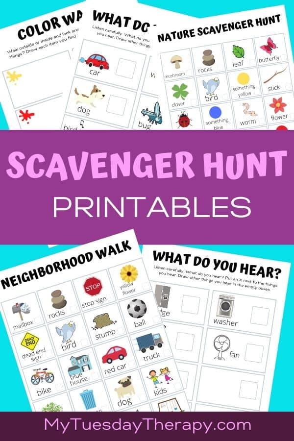 Scavenger Hunt Printables