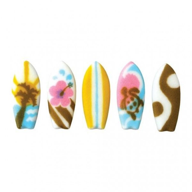 Edible Surfboard Cupcake Topper for Beach Parties (ChristyMaries83)