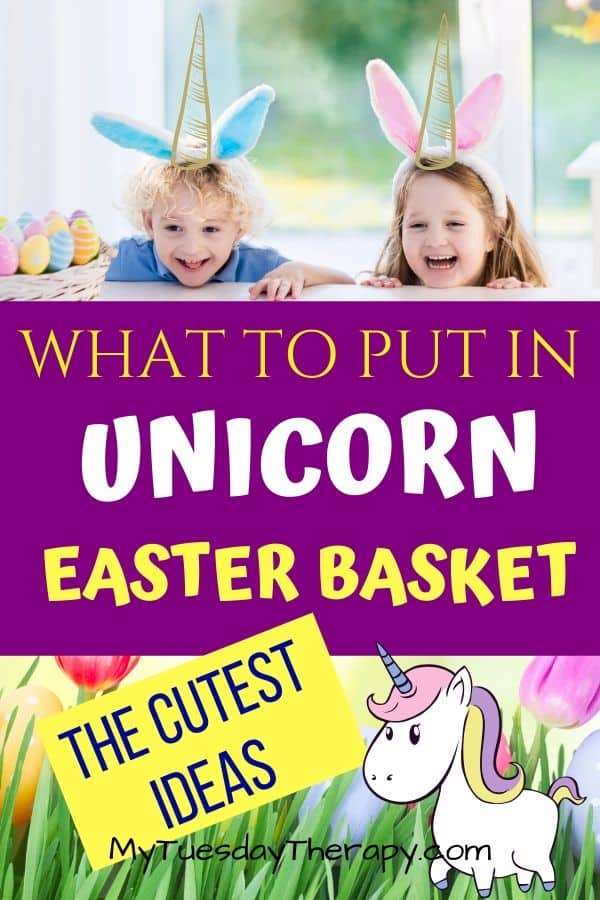 What to put in unicorn Easter basket. Cute unicorn gift ideas.