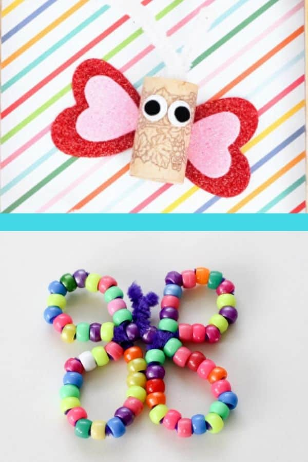 Cork Butterfly Craft and Pony Bead Butterfly Craft