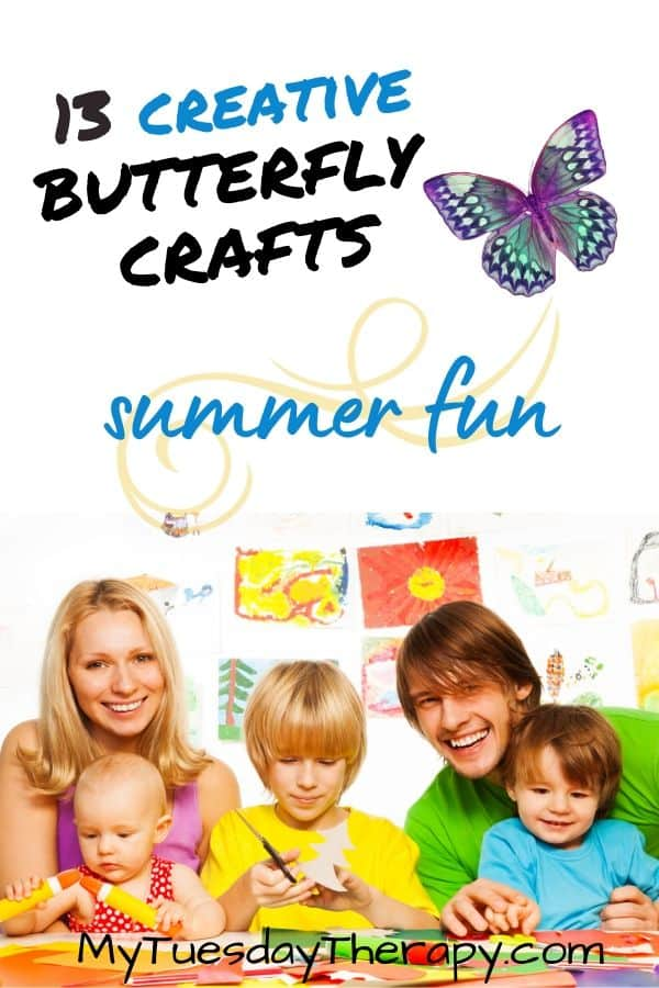 Creative butterfly crafts for kids, preschoolers.
