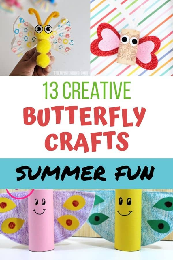 Creative butterfly crafts for kids. Summer fun!