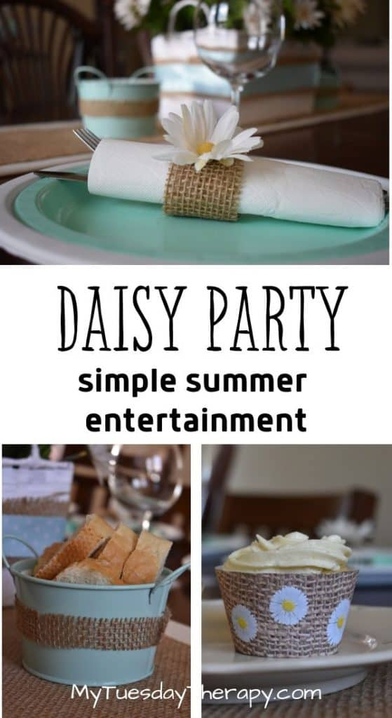 Easy daisy party decoration ideas diy for baby showers, graduations, mother's day, wedding showers, summer parties.
