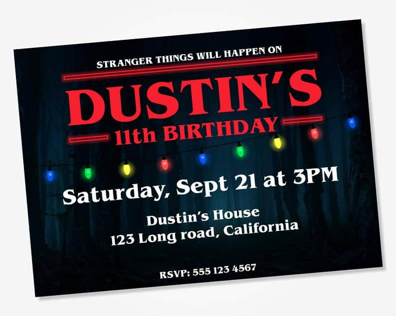 Stranger Things Party Invitation (horvathpaperco)